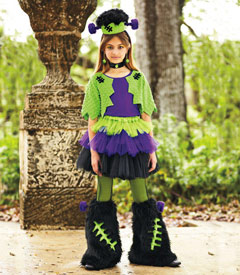 Frankenstein girl costume