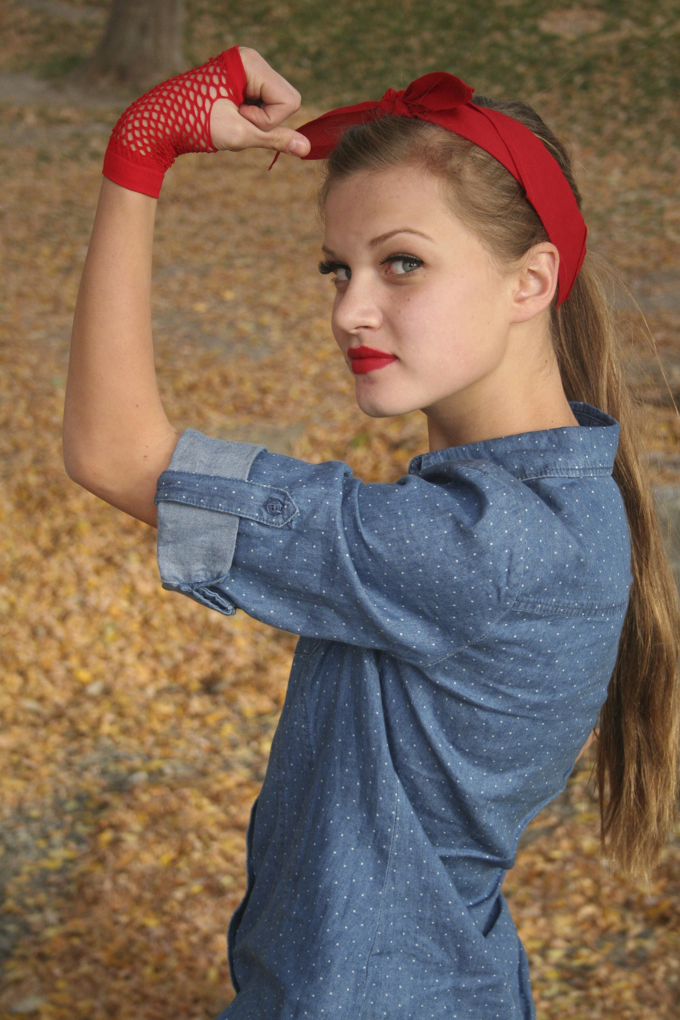 rosie riveter or lucille ball hair updo hair instructions