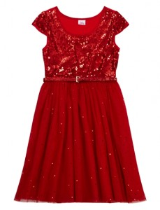 red sequin party dress