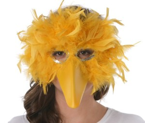 yellow bird mask