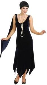 Velvet flapper dress