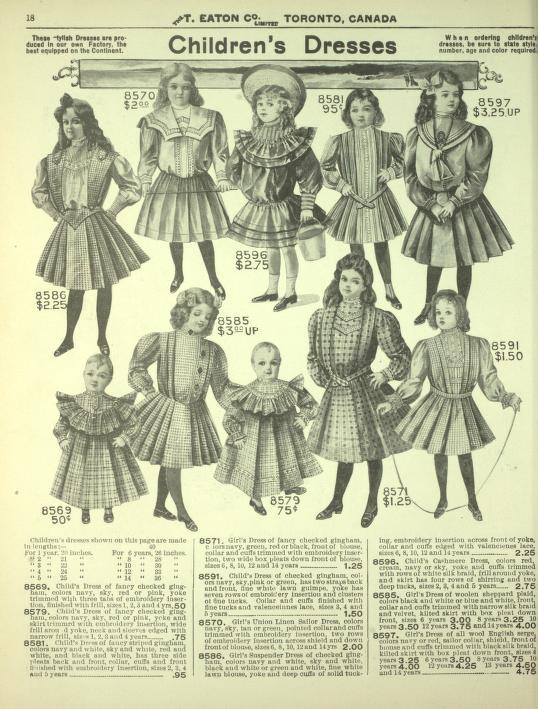 eatons childrens dresses