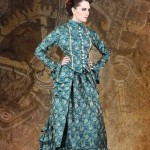 turq steam punk dress