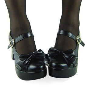 Black gothic shoes